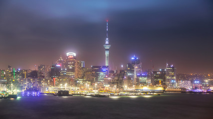 Auckland Cityscape from Devonport, New Zealand