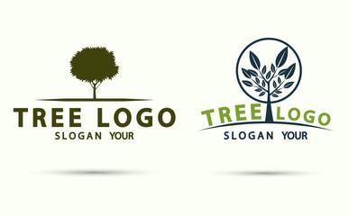 tree logo wood icon modern design.vector illustration