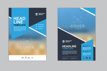 Templates presentation for annual report, flyer, leaflet, brochure, corporate report, advertising. vector design. no5