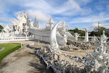 Rong Khun temple, Wat Rong Khun, White temple, Chiangrai Thailand