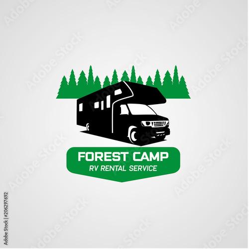 adventure rv camper car logo designs template stock image and