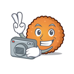 Photographer cookies mascot cartoon style