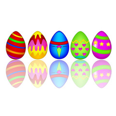Easter eggs colorful frame background