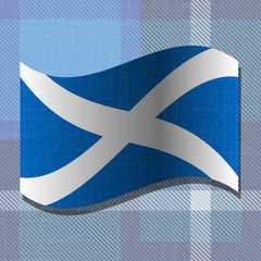 Independence Day of Scotland. 24 June. Flag of Scotland