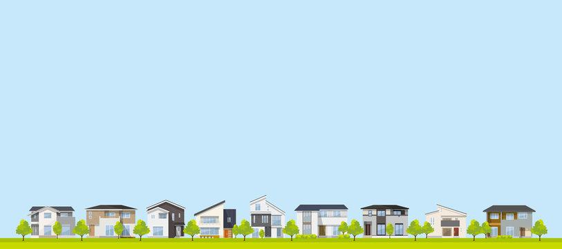 風景、背景:家、住宅、一軒家、戸建て