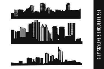 City Skyline Vector Set