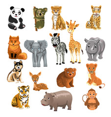 vector collection of wild animals