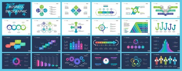 Business infographic creative design set