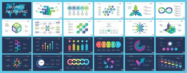 Inforgraphic slide templates for business presentation