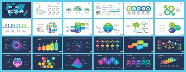 Set of finance or investment concept infographic charts