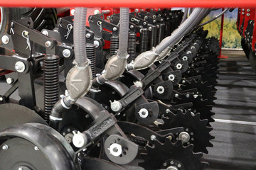 Seed drill. Precision sowing machine.
