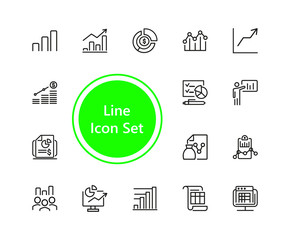 Set of Diagram Line Icons