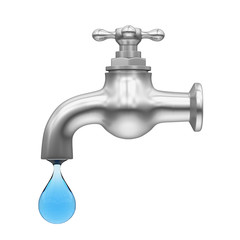 Dripping Tap with Drop Isolated