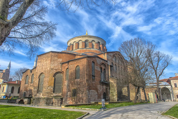 "The Church of St. Irene - one of the earliest surviving churches of Constantinople, is dedicated to the ""Holy World""."