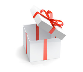 open surprise gift box 3d rendering