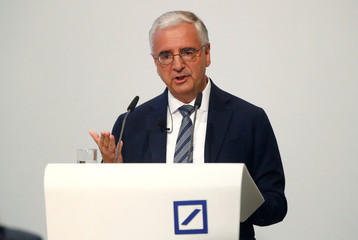 Deutsche Bank's annual meeting in Frankfurt