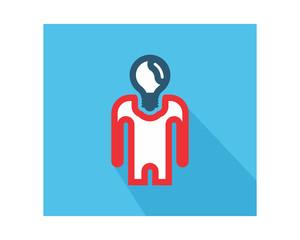 bulb head business company office corporate image vector icon logo