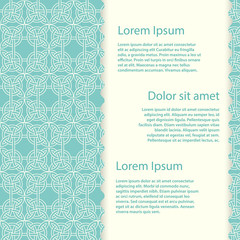 Vintage banner template with vector celtic knots