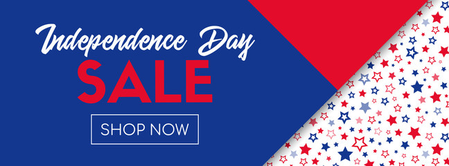 Independence day sale vector banner