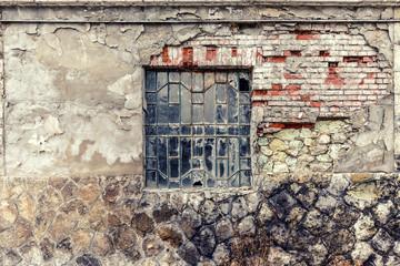 Old vintage barn wall