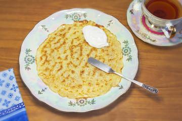 Breakfast with pancake