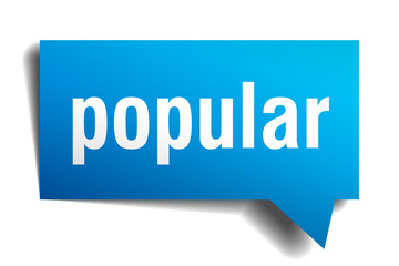 popular blue 3d speech bubble