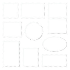 Blank White Stamps Frame Set