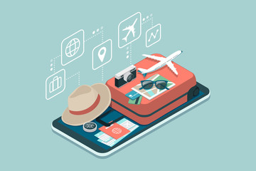 Travel and booking smartphone app