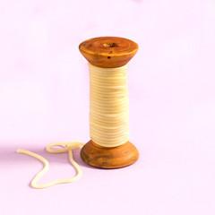 Creative idea: boiled spaghetti on reel instead of threads