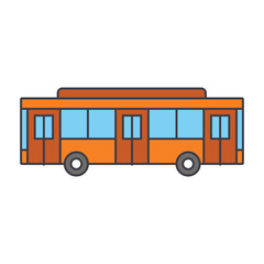 Bus line icon, vector illustration. Bus flat concept sign.