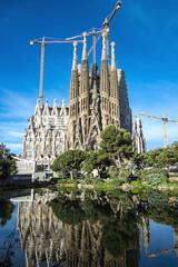 The Cathedral of La Sagrada Familia by the architect Antonio Gaudi, Catalonia, Barcelona Spain