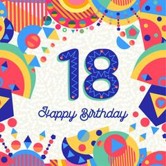 Eighteen 18 year birthday greeting card number