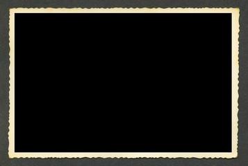 Olb blank photo. Retro black style photo