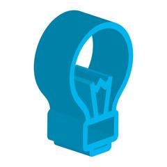 bulb light isometric icon vector illustration design
