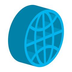 sphere planet isometric icon vector illustration design