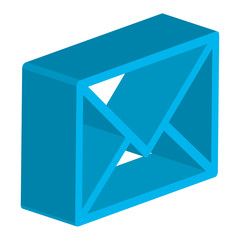 envelope mail isometric icon vector illustration design