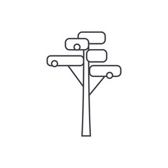 Pine tree thin line icon, vector illustration. Pine tree linear concept sign.