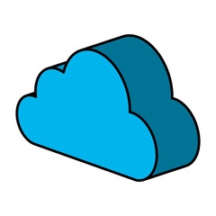 cloud computing isometric icon vector illustration design