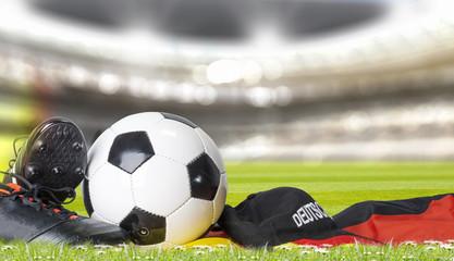 fußball im stadion mit fan artikel.