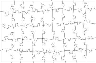 White  jigsaw puzzle, vector illustration for your design