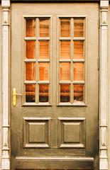 Old doors. Wooden texture. Background