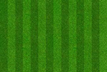 Fußballrasen mit Streifen