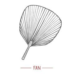 Fan in Hand Drawn Style