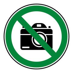 Verbotsschild Icon - fotografieren verboten