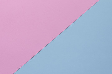 Creative geometric  paper background. Pink, blue pastel colors. Abstraction. Template.