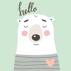 Cute card with bear