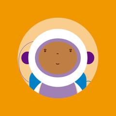 Afro astronaut avatar