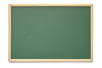 school board blackboard texture with empty blank frame isolated on white with clipping path