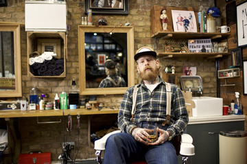 Portrait of a male barber
