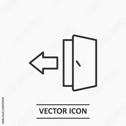 Outline Logout Icon Illustration Vector Exit Sign Or Register Logout